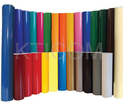 5 Rolls 12 Gloss Colors Adhesive Backed Vinyl Sign Craft Cutter Silhouette