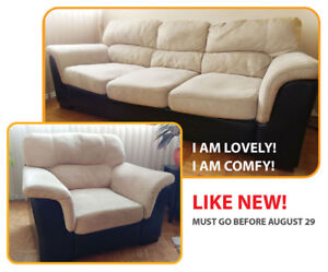 Great comfortable sofa and chair set