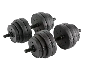 Opti Vinyl Barbell and Dumbbell Weight Set - 30kg