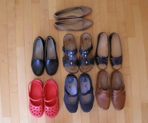 6 pairs of shoes and sandals