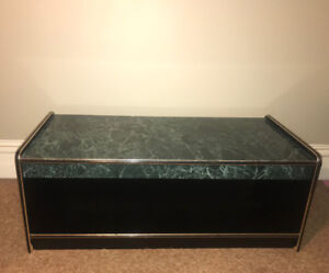 Coffee table with bottom storage