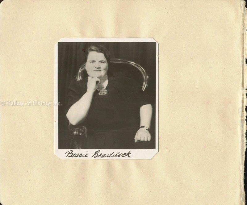 BESSIE BRADDOCK - PHOTOGRAPH SIGNED