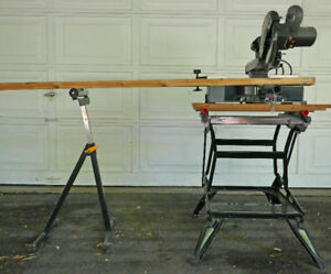 Sliding Compound Mitre Saw, Manual, Table, Rolling Support