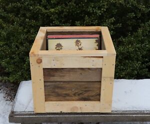 Rustic, Handcrafter, Wooden Storage Box. Perfect for your Record