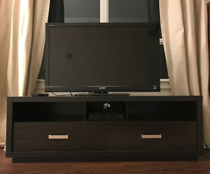 TV STAND WITH 2 Drawers (Great Condition)