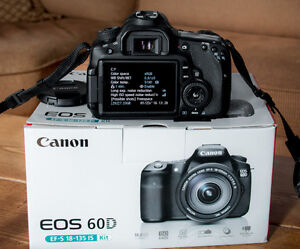 Semi Pro Canon EOS 60D Camera with brand new 18-55mm IS Lens