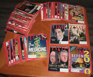 Time magazine collection from 1998 & 1999