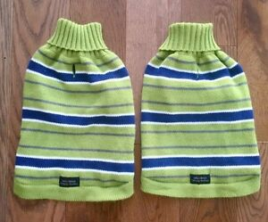 PICKLE GREEN AND NAVY DOG/CAT SWEATERS - Size Small, Never Worn Cambridge Kitchener Area image 1