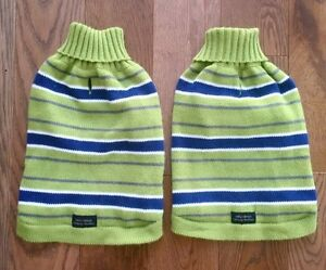 PICKLE GREEN AND NAVY DOG/CAT SWEATERS - Size Small, Never Worn