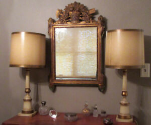 HAND PAINTED, MID-CENTURY-MODERN Lamp & OTHER TABLE LAMPS