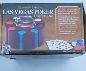 Poker set rotating all chips Inc 1pk cards missing