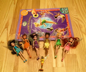 All six Disney Fairies and book