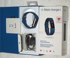 New Open Box Small Blue Fitbit Charge 2 Fitness Tracker