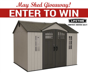 Brand new Garden Shed Giveaway! Free to enter!