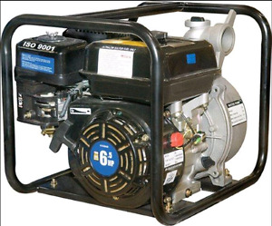 GAS WATER PUMP WITH HOSE CLEAN