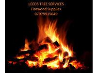 Seasoned firewood logs