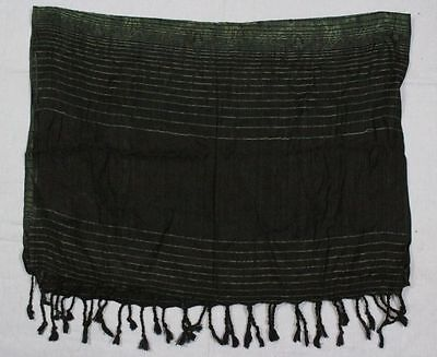 SCARF/SHAWL WITH NEW EMBROIDERED GREEN SHADE PATCHWORK BEAUTIFUL INDIAN LOOK 004