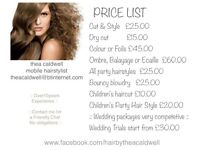 Highly Experienced and Prefessional Freelance and Mobile Hairstylist - more than 10 years practice.