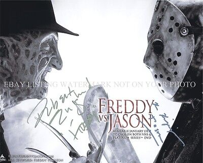 FREDDY VS JASON CAST SIGNED AUTOGRAPH 8x10 RP PHOTO HALLOWEEN FRIDAY 13th