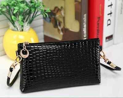 Crocodile/Stone Pattern Envelope Synthetic Leather Clutch Wrist/Shoulder (Pattern Clutch Bag)