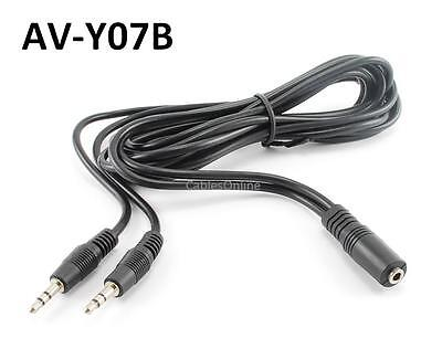 6ft 3.5mm Stereo Female to 2-Male Y-Splitter Audio Cable, CablesOnline AV-Y07B on Rummage