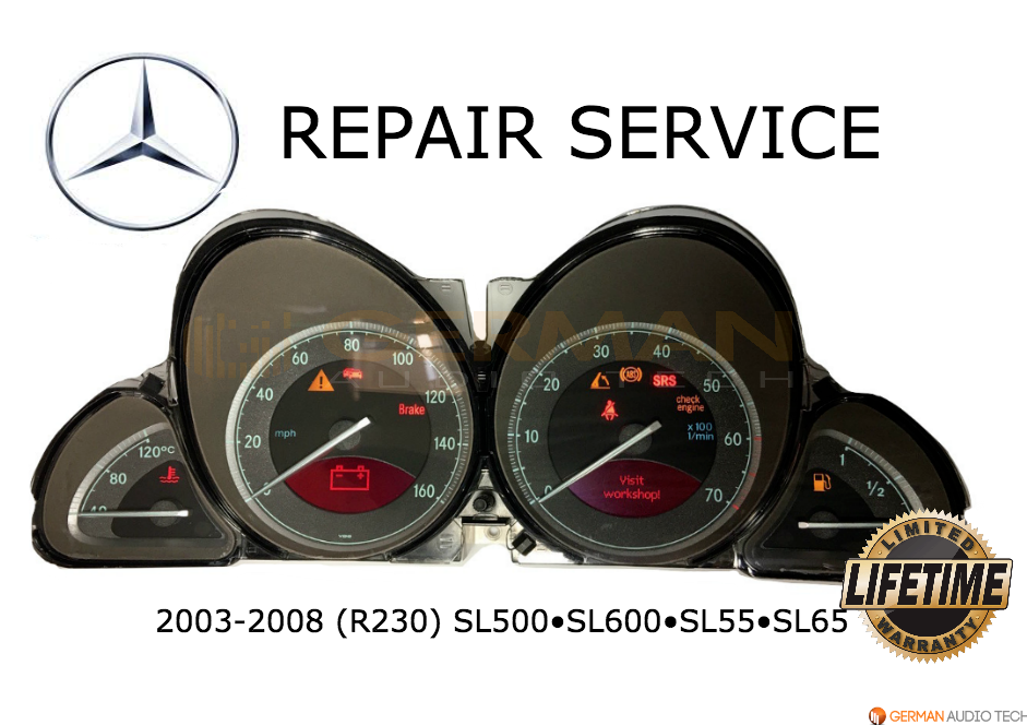 REPAIR SERVICE for MERCEDES BENZ R230 SL500 INSTRUMENT CLUSTER BACK LIGHTING