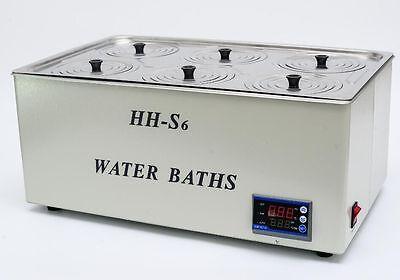 1500w Digital Thermostatic Water Bath 6 Hole 500300150mm Fast Shipping Y