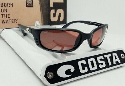 COSTA DEL MAR matte black/copper BRINE POLARIZED 580P sunglasses! NEW IN (Costa Del Mar Brine Sunglasses)
