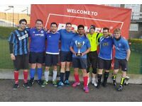 Competitive but Friendly 5 a side team looking for 1 Outfield player & 1 Keeper