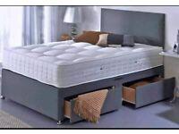 🔴🔵LOWEST PRICE SALE OFFER ⚡⚡⚡ PLAIN FABRIC DIVAN SINGL BED W MATTRESS 120 gbp 🍣