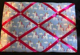 Handmade Fabric Memory/ notice / Pin Board