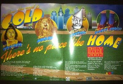 "Wizard of Oz PHILLY GOLD 2002 12x18"" Print Industry Trade Ad RARE Regional Ad"