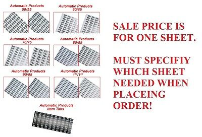 New Price Selection Tab Sheets For Automatic Products Ap Snack Machine