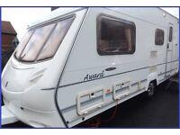 Swift Ace 4 Berth Luxury Touring Caravan Abbey Sterling Group. BARGAIN