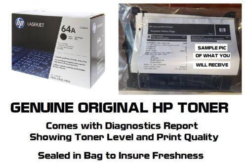 New Genuine HP 64A Toner Cartridge Printer Tested 100% NO BOX SEALED BAG