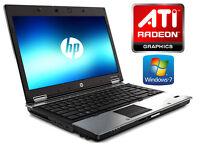 "Deliver if needed HP Elitebook Metallic GAMING Laptop 15"" - ATI Radeon HD - Intel C2d 2.66Ghz - 4Gb"