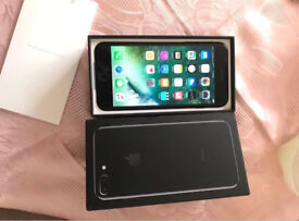 Mint condition iPhone 7 plus jet black 256gb unlocked