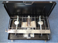Camping cooker, 2 hobs and grill, Perfect working order