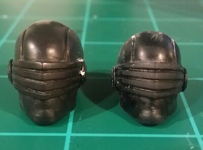 """Custom Sculpt G.I. Joe Snake-Eyes Painted head Cast Articulated Icons scale 6"""""""