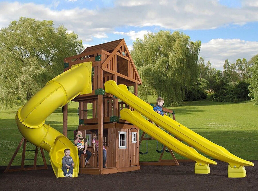 traverse all cedar swing set backyard odyssey - Cedar Swing Sets