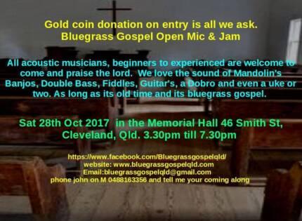 Bluegrass gospel Jam and Open Mic