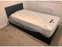 New Single Divan Bed Base with Headboard !! Mattress (Optional)