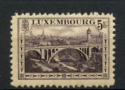 Luxembourg 1921 SG#208, 5f Deep Violet Bridge MH Cat £60 #A62734