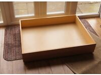 Underbed Storage Drawer, Wood, with Wheels