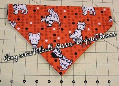 DOG BANDANA Over Collar XS-L DALMATIANS Red Black White Polka Dots Pup CLOSEOUT