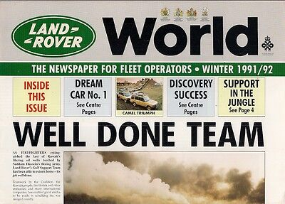Land Rover World Fleet Magazine Winter 1991-1992 UK Market Brochure