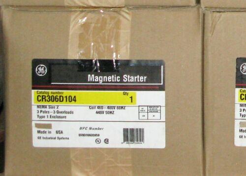 General Electric # CR306D104 Starter / Nema Size 2 / 3 Pole