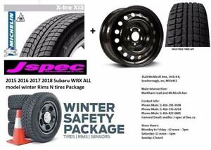 2015 2016 2017 2018 Subaru WRX 17 winter rims and tires package