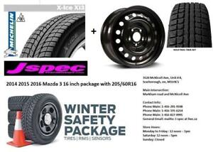JSPec Mazda 3 2004 to 2013 Winter tires n rims package 205/55R16