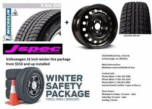 Volkswagen Golf 16 inch winter rims n tire package 205/55R16